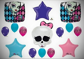 Monster High Skullette Birthday Balloon Bouquet Kit