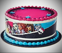 Monster High Designer Prints Edible Cake Image Border